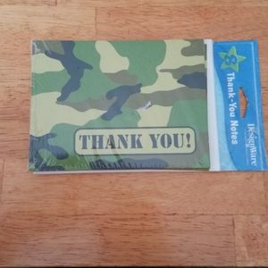 8 Pack Camouflage Thank You Cards